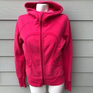 Lululemon Pink Scuba Full Zip Hoodie